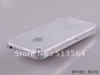 For iphone 4 4S ultra thin 0.5mm clear case casing,Cheap matt gel transparent case for iphone 4   4S  Free shipping