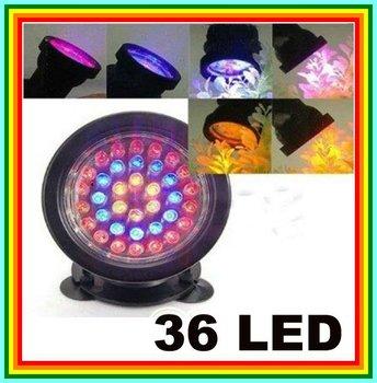 3W 36 LED Submersible Lamp Spot Light For Water Aquarium Garden Pond Pool, Free shipping + Retail Box + Tracking #, 1301