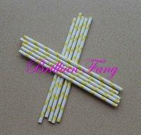 Hot selling 500pcs Color-52 Polka Dot Stripe Paper Straws,  Paper Straws, Drinking Paper Straws Drinking Straws