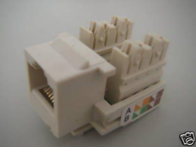 10 CAT5 RJ45 Network Wall-Plate Cabinet Jack Socket ECW(China (Mainland))