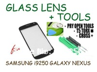 Free shipping Black Front Screen Glass Lens + Tools for Samsung Galaxy Nexus i9250