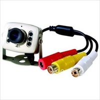 CCTV Camera With 6pcs LED infrared lamps Night Vision output audio and video