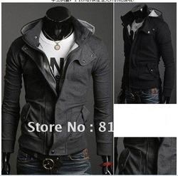 Free shipping2012 New coats Mens Special Hoodie Jacket Coat men clothes cardigan style jacket(China (Mainland))