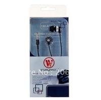 Wallytech 3.5 mm Plug In-ear Earphone for iPhone, iPad, iPod (black,white)+ . free shipping