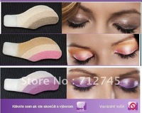 10 boxes(27 colors 1box=6 pairs=12 pcs)Fashion Instant Eyeshadow Magic Eye Sticker Tattoos Eye Migic