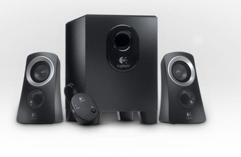 Computer speakers system Z313, 25 tile (RMS) output power can let whole space filled with full, balanced voice