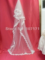 Hot Sale White Ivory Lace Edge Long Wedding Bridal Veil
