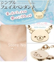 <Attention!Free shipping for Min.order $15,mix model> Wholesale Cute Rilakkuma clavicle necklace,sweater necklace  N052