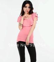 2012 sexy top female summer ruffle strapless slim sleeveless fashion top no . 7004 - 4