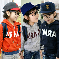2012 autumn brief letter boys clothing girls clothing baby with a hood sweatshirt wt-0542