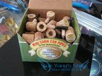 Free shipping 180pcs/lot(36pcs/box) mini Original corn cob tobacco pipe as healthy smoke cigarette filter,eco-friendly