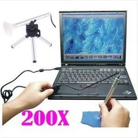 Portable Mini USB Microscope Digital Endoscope with camera 200x 0.3~5MP light LED measure length/Arc/Angle