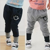 free shipping 2012 autumn heart smiley boys clothing girls clothing baby trousers breeched 4d