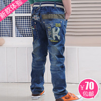 children pant 2012 spring and autumn child jeans male big boy trousers child denim trousers 118