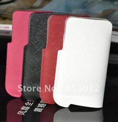 4style Genuine leather cross case full body holder skin for Iphone 4 4S 4G 4GS hot sale 30PCS/lot(China (Mainland))