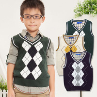 free shipping Dora male child small child all-match woven vest pure cotton vest yarn vest waistcoat