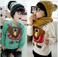 Children's clothing 2012 autumn child female  fleece sweatshirt outerwear