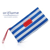 Free Shipping, 10pcs/Lot,  Navy White & Blue Stripe Cosmetic Bag, Inside Waterproof for Women and Lady