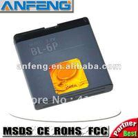 Real 1000mAh battery BL-6P BL6P for nokia 7900P/6500 classic /6500c/7900Prism AKKU ACCU bateria batterij free shipping 2pcs/lot