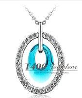 T400 бренд ювелирных кристалл ожерелье, капля воды бусы Бижутерия деликатный безделушку, свадебный подарок #1738