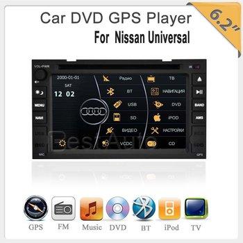 """6.2""""TFT GPS/DVD/BT/Ipod/TV For Nissan Qashqai/Tiida/Paladin/Frontier/Navara//Micra/Patrol/Sentra/versa/Juke"""