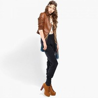 hot sale  2012 autumn and winter  new arrival fashion women pu leather jackets suede coats women
