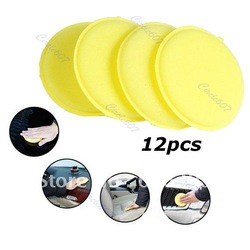 12PCS Waxing Polish Wax Foam Sponge Applicator Pads For Clean Car Vehicle Glass WHOLESALE AND RETAIL(China (Mainland))
