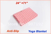 """50pcs/lot Free shipping good quality 24"""" x 71"""" thicken yoga blankets fitness blankets"""
