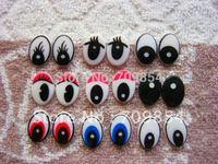 free shipping!!! 500pcs/lot 14*20mm mixed color animal eye toy eyes flat back eyes