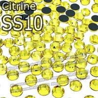 SS10 2.7-2.8mm,1440pcs/Bag Citrine DMC HotFix FlatBack Rhinestone,heat transfer Hot Fix iron-on garment yellow crystal stone