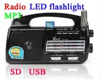 all the elderly in-band radio USB MP3 card speaker radio LED lamp torch rechargeable radio