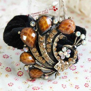 100pcs/lot.Retro gem diamond rhinestone flowers headbands/Hairbands/Hair accessories/Headwear.flowers for hair.T1110WA01M02100