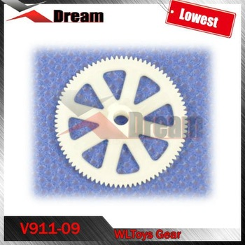 Free shipping V911-09 Main Gear spare parts For WLToys V911 V-911 Rc helicopter Model Toys