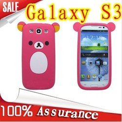 Rilakkuma Silicon Soft Back Cover cell Phone Case for Samsung Galaxy S3 siii i9300 ,NEW Design Hello Kitty Free shipping