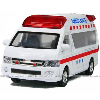Toy car toy car alloy WARRIOR cars zone alarm siren flash TOYOTA ambulance