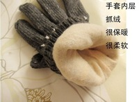 Wholesale 15pair/lot Fashion Snow Wool Knitted Gloves Hot Sale
