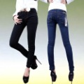 holiday sale women skinny  pencil pants  low-waist boot cut jeans slim Women  trousers ,women denim pants,Black/Blue,26-32sizes