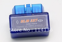 Works On Android Torque OBD II/ OBD2 Mini ELM327 Bluetooth mini elm 327 bluetooth For Multi-brands  shipping by DHL