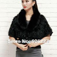 whosalers knitted rabbit fur T shitt