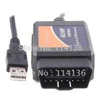 Wholesales OBD2/OBDII scanner ELM 327 car diagnostic interface scanner tool ELM327 USB shipping by DHL .