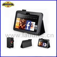 "Sleep Funtion Leather Stand Case for Kindle Fire HD 7"",  200pcs/lot Flip Cover Tested with Real Tablet,  Free Shipping"