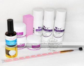 1set - 11pcs-set Acrylic Nail Art kit - for Manicure & Pedicure Nail Beauty - Nail care kit - Free Shipping