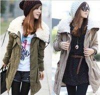 ja001 sexy женщин леопарда faux мехом пальто куртка балахон верхняя одежда
