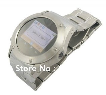 W968 Quad Band Stainless Steel Unlocked Watch Cell Phone 1.33 inch Touch Screen Bluetooth MP4 FM Radio Camera(China (Mainland))