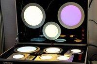 free shipping 36pcs SMD5050 8W round Slim RGB LED Panel Light with controller AC100-240V LED Panel Light