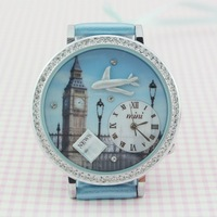 Handmade POLYMER CLAY Korea Mini Diamond Crystal Dress Ladies Women Girl Watch,Christmas Gift - Travel to London