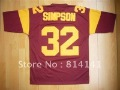Wholesale-Free Shipping College Jersey USC Trojans #32 Simpson Red Color(China (Mainland))