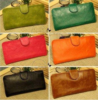Free shipping 20 COLORS Soft PU leather super slim/thin wallet,card pocket,fashion wallet,Korean PU wallet,ladies purse/wallet