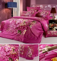 FREE SHIPING- High quality bed set modem Oil painting 3D flower  duvet cover/  bed cover set/ bed linen by EMS