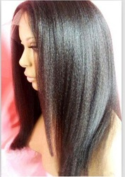 "Affordable! Kinky Straight 100% Indian Remy Human Hair Full Lace Wig select 8""-24"" Wholesale High Quality 1b off black(China (Mainland))"